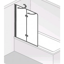 HSK Badewannenaufsatz Favorit Nova, 2 teilig, passend zur Duschwanne DOBLA