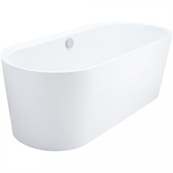 Themse Fine 180 F mit Schürze, freistehende Badewanne weiß 180x80x46/60 cm