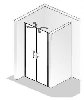 hsk duschkabine favorit nova pendelt r nische fliesen online kaufen. Black Bedroom Furniture Sets. Home Design Ideas
