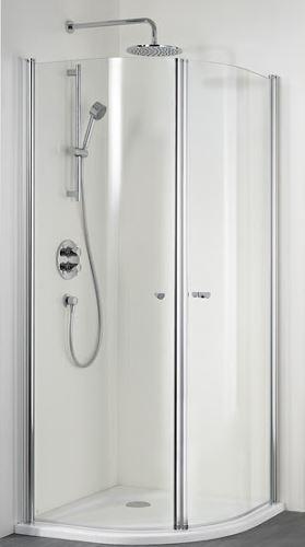 hsk duschkabine exklusiv runddusche 2 teilig 90cm fliesen online kaufen. Black Bedroom Furniture Sets. Home Design Ideas